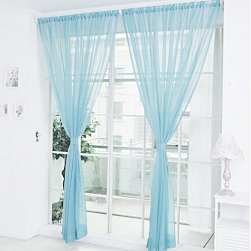 Buy Generic Co Solid Color Tulle Translucent Window Curtain Drape