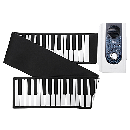 IWord 88 Key Professional Roll Up Piano Portable Travel With MIDI Keyboard  White