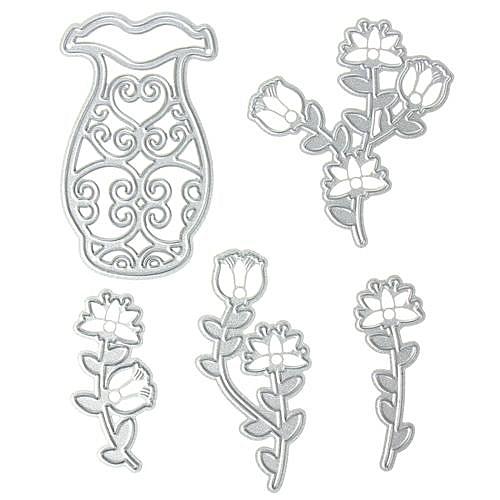 Buy UNIVERSAL Flower & Vase Metal Cutting s Stencils DIY ... on flower garden stencils, mug stencil, pitcher stencil, tulip flower stencil, mirror stencil, flower leaves stencil, flower basket stencil, lantern stencil, necklace stencil, furniture stencil, spoon stencil, cup stencil, box stencil, flower frame stencil, flower tattoo stencils, floral stencil, flower vases with flowers, chair stencil, jar stencil, flower water stencil,
