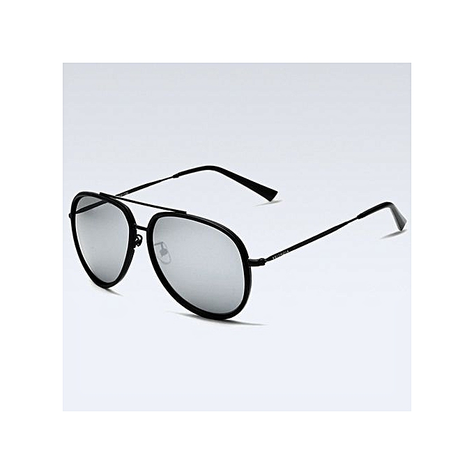 3ae5f8f0aea5 Casual Mens Aviator Polarized Sunglasses Cycling Sport Fishing Driving  Mirror Stainless Steel Black Frame Mercury Lens