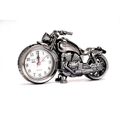 Generic Motorcycle Shape Decorative Quartz Alarm Clock Desktop