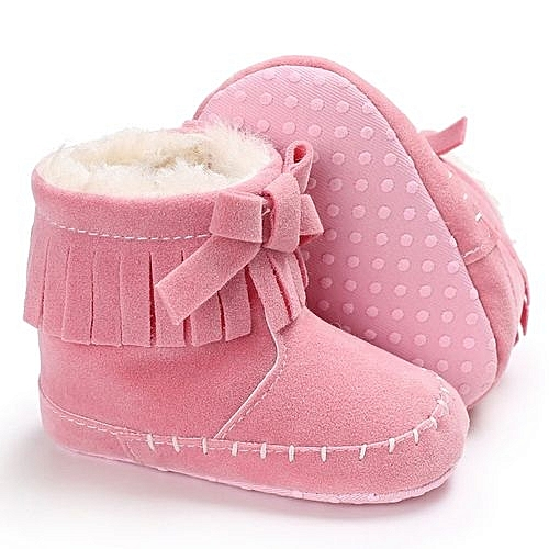 3dbb9de02773 Neworldline Baby Girl Soft Sole Booties Snow Boots Infant Toddler ...
