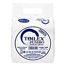 Jumbo Toilet Roll White - 100m