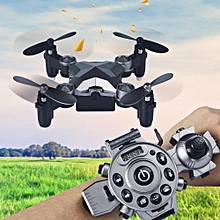 Foldable Pocket Drone RC Quadcopter Watch Control Headless Altitude Hold Toys