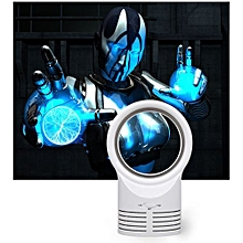 Portable Air Conditioner Table Mini Bladeless Fan With Adapte- White