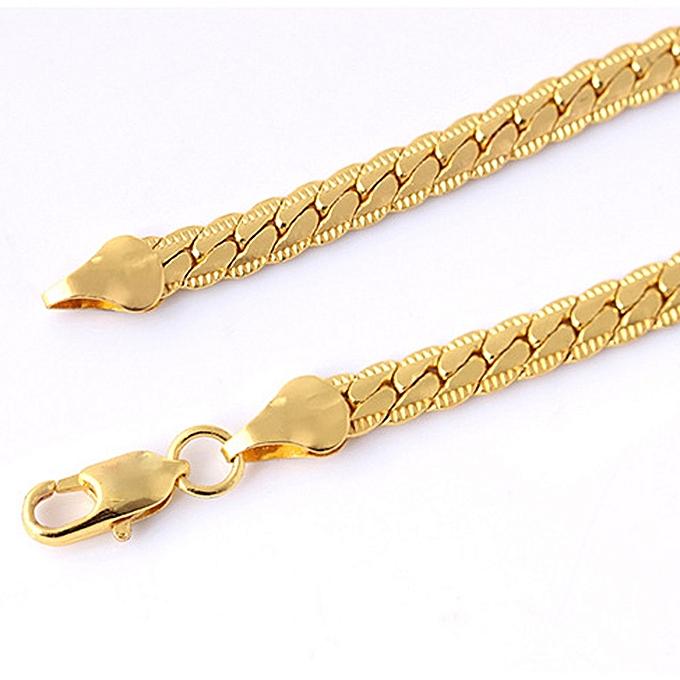 Jiuhap Uni Men S Punk Gold Bracelet Chain Wristband Bangle Hip Hop Jewelry