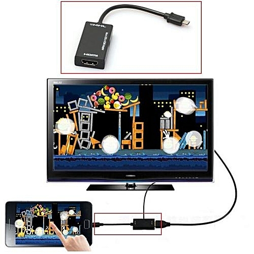 Mini Micro USB 2.0 MHL To HDMI Cable HD 1080P For Samsung Galaxy Note 2-Black