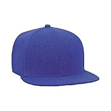 Blue Plain Snapback Hat