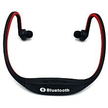 Bluetooth Headset Headphone HandsFree Fashion  Bluetooth High-fidelity Sports Wireless Headphones S9 - Red