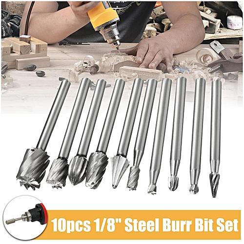 30 PCS 3mm Steel Head Carbide Burrs Wood Rotary Drill Die Grinder Carving  Bit