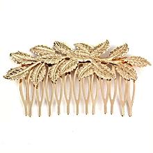 Hot Fashion Punk Women Girls Golden Leaf Hair Comb Hair Clip Jewelry-Gold