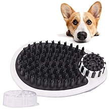 New Magic Cube Pet Dog Bath Brush Pet Grooming Shower Massage Comb Cleaning Tool Can Hold 150ml Shampoo Specification:150ml