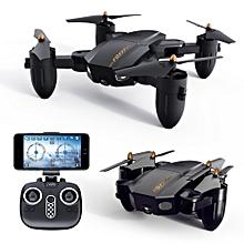 FQ777 FQ36 Mini WiFi FPV with 720P HD Camera Altitude Hold Mode Foldable RC Drone Quadcopter RTF-30M pixelswifi Single version
