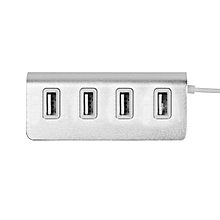 GB Type-c Transfer Aluminum Alloy 4 USB Ports 2.0 High-speed Hub-silver