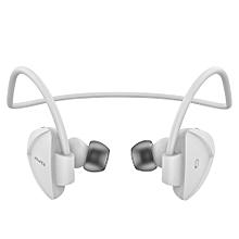 A840BL - Neckband High Perfomance  Wireless Bluetooth Headphone - White