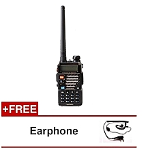 Baofeng UV-5RE 5W 128CH VHF/UHF Dual Band Portable Two Way Walkie Talkie + FREE Earphone
