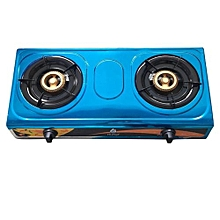 Gas Stove Table Top Stainless Steel Double Burner-QG 201
