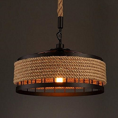 MS-05 Nordic Hemp Rope Chandelier Dangling Lamp Pendant