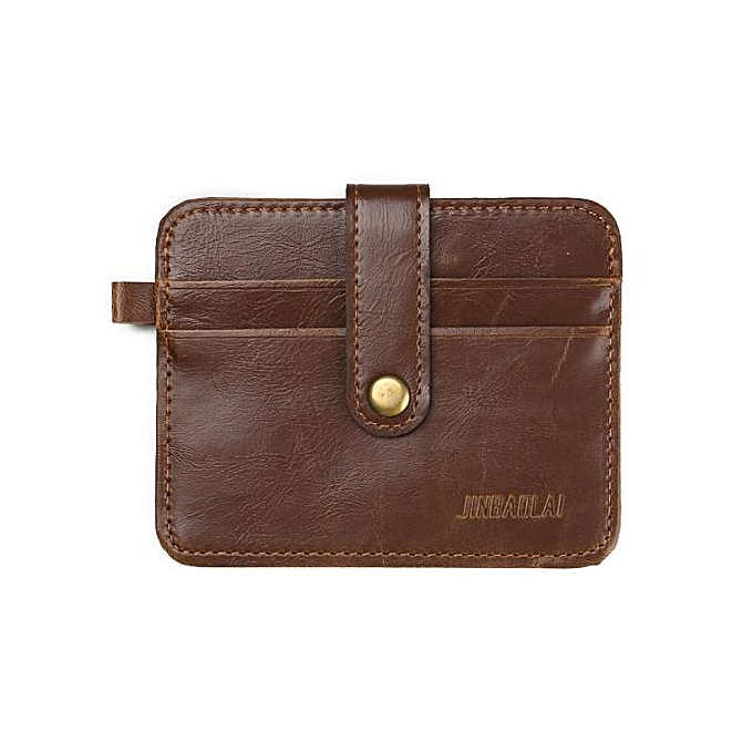 da9683081e24 Fovibery Luxury Retro Mens Leather Clutch Billfold Wallet Credit ID Card  Slim Purse