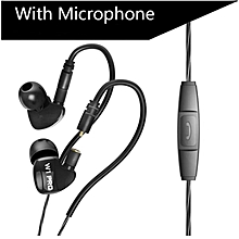 QKZ W1 In ear Waterproof Plug in Metal Removable Cable Sport Earphone With Mic