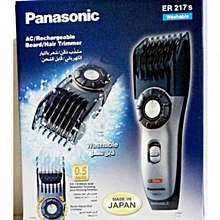 Rechargeable Beard/Hair Trimmer Washable