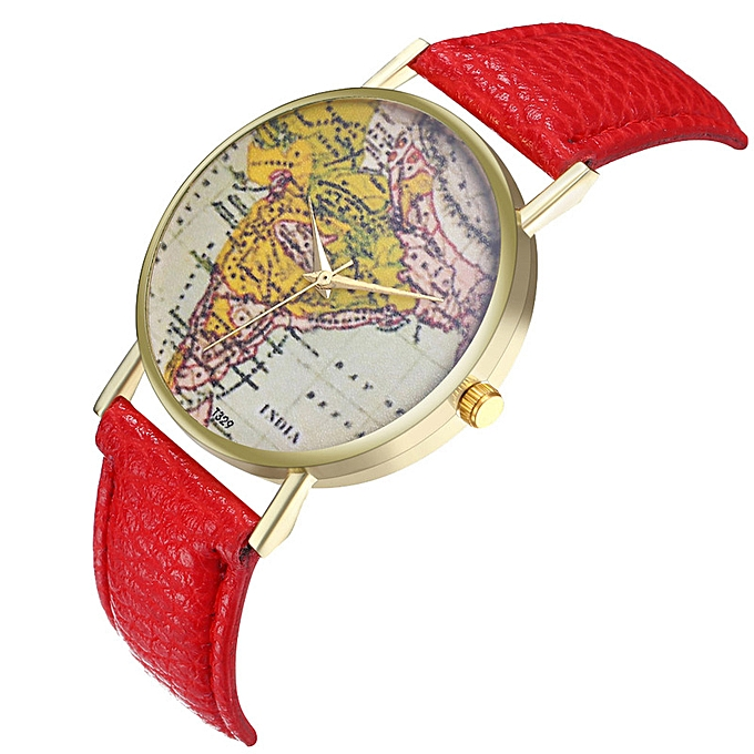 The curio India map watch leather watch band lady watch man