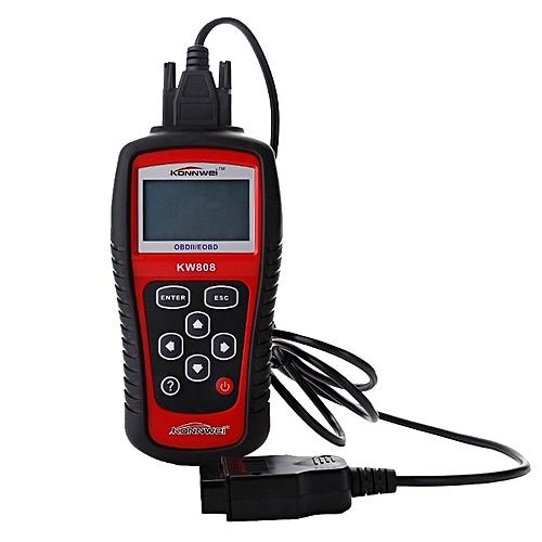 OBD2 Scanner KW808 Car Diagnostic Code Reader CAN Engine Reset ScanTool  Live Data KONNWEI By BDZ
