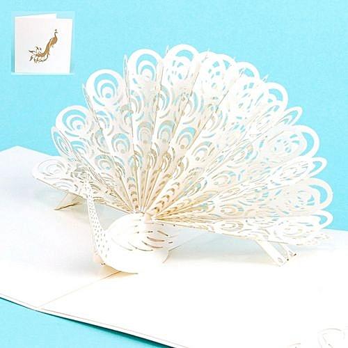 buy generic 3d pop up peacock cards wedding lover happy birthday
