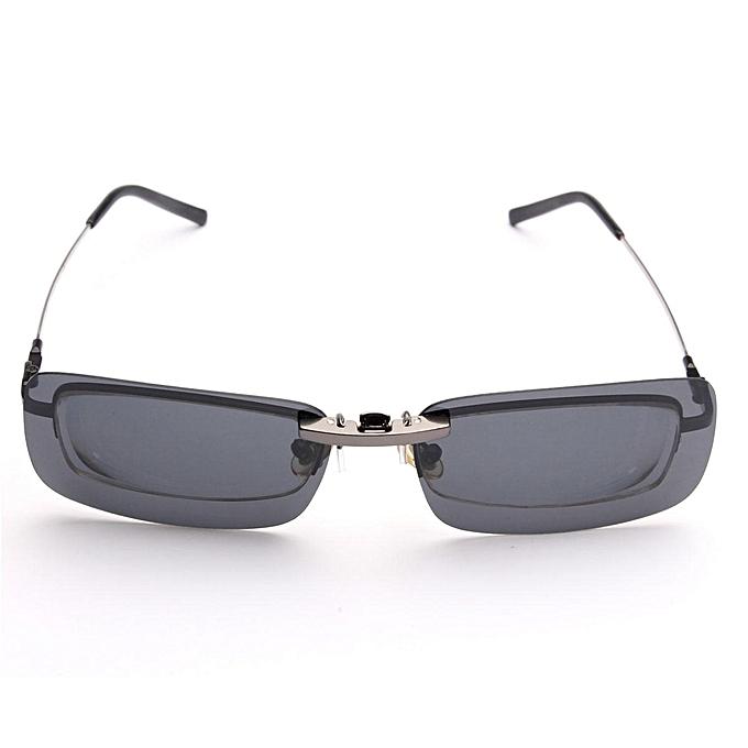 62da59a548 ... Polarized Clip On Sunglasses Sun Glasses Driving Glass Night Vision  Lens Small Clip ...