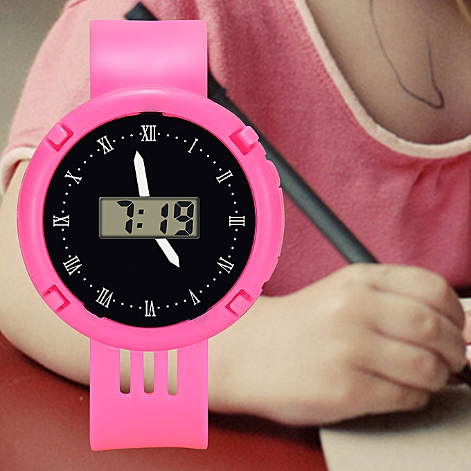 Children Girls Analog Digital Sport Led Electronic Waterproof Wrist Watch New Watches