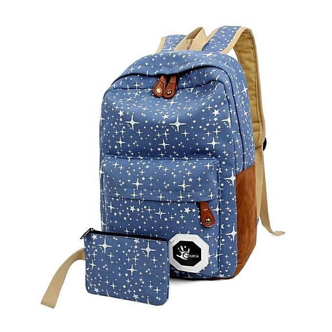 aad90e6177 Women Canvas Backpack School Bags Teenagers Backpacks Mochila Escolar Blue