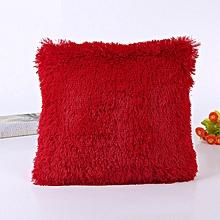 Fluffy Pillow / Throw Pillows / Sofa Pillows / Seat Pillows 18'' x 18'' - Red.