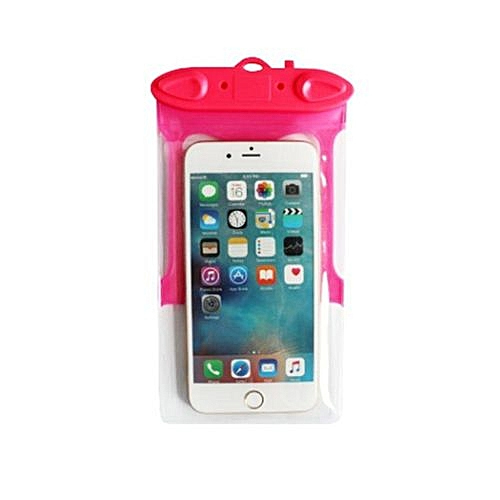 official photos 5c5b3 dd1bd Waterproof Case Universal For iphone 7 6 6s plus samsung S7 Cell Phone  Water proof Dry Bag with Whistle for smart phone up to 5.8 inch - Rose Red