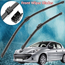 "For Peugeot 207 CC SW 2007-2012 Front Windscreen 26"" 16"" Flat Aero Wiper Blades"