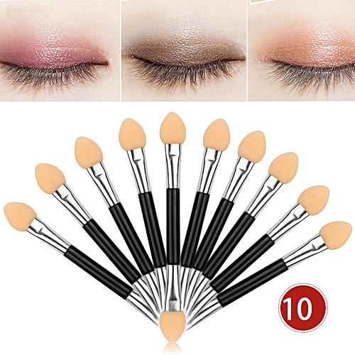 a1aa269b319b Top sell 12Pcs 10pcs Makeup Double-end Eye Shadow Eyeliner Brush Sponge  Applicator Tool support drop shipping(10Pcs)