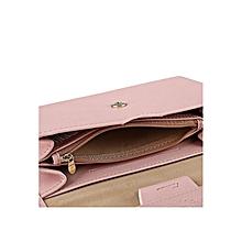 Pure Color Pu Envelope Clutch - Pink