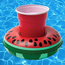 Inflatable Watermelon Shaped Floating Drink Holder, Inflated Size: About 19 X 19cm