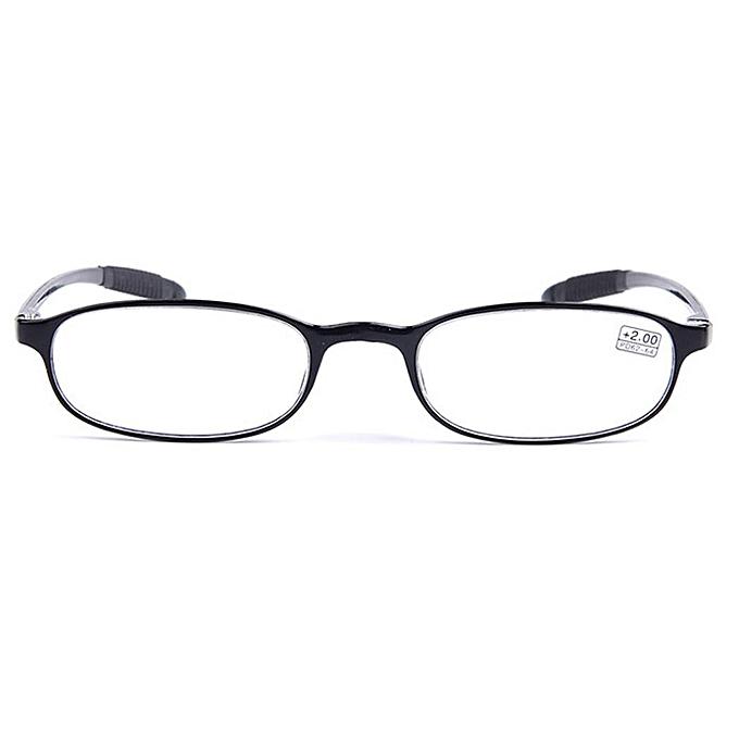 Buy Sunshine Eyeglasses +1.0 To +4.0 Men Women Black Frame Flexible ...