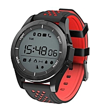 """F3 - 1.1"""" Smartwatch For Android/IOS Waterproof Pedometer 240mAh - Black+Red"""