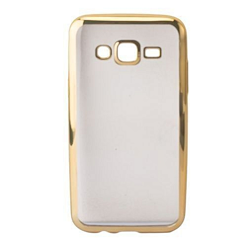 new product eeb58 b8f9e Samsung Galaxy J5 Back Cover - Clear With Gold Edges
