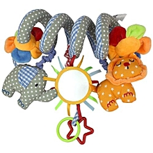 Musical Elephant Lion Bed Twisting Toys Baby Stroller Hanger Toy - Multicolor