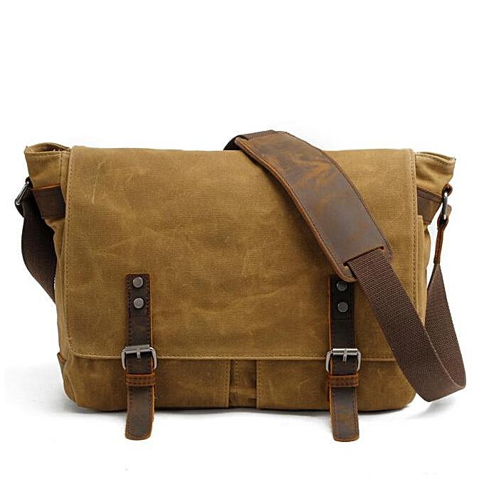 5bc7d7a1 2018 New Men Messenger Bags Waterproof Canvas Men Vintage Handbags Travel  Shoulder Bags 14 Inch Laptop Briefcase LI-1488(Khaki)