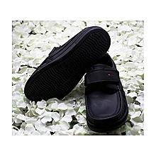 Boy's Comfortable School Shoe - Black
