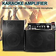 Bluetooth Amplifier Speaker Audio Stereo FM Radio Remote Controller Home Theater Black