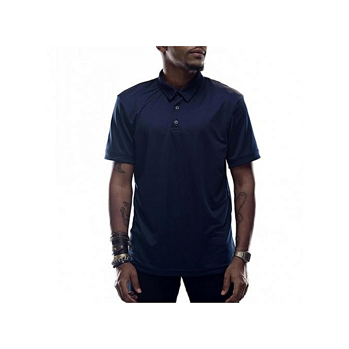 Navy Short Sleeved Mens Polo Shirts