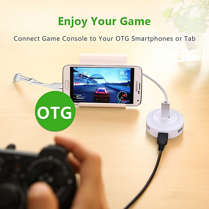 ... UGREEN USB 2.0 Hub 4 Ports with OTG Function Compatible for PC, Cell Phones, ...