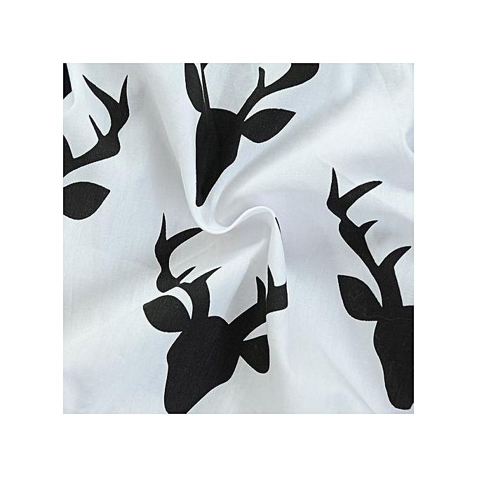 da17855738ce Eissely Newborn Infant Baby Girl Tassel Cartoon Deer Print Romper ...