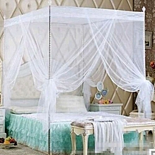 Mosquito net with metallic stands - White