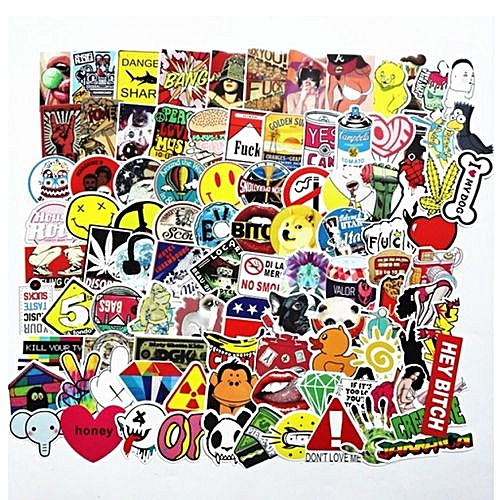 400 Not Repeating Mixed Funny Stickers for Home Decor Boot on Laptop Car  Sticker Decal Fridge Skateboard Graffiti PVC Waterproof Sticker
