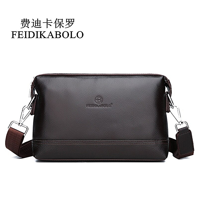 01fd25c30a7f FEIDIKABOLO NEW Leather Shoulder Bags Men Messenger Bag Promotional Small  Crossbody Bag Business Man Bag Multifunction(brown)